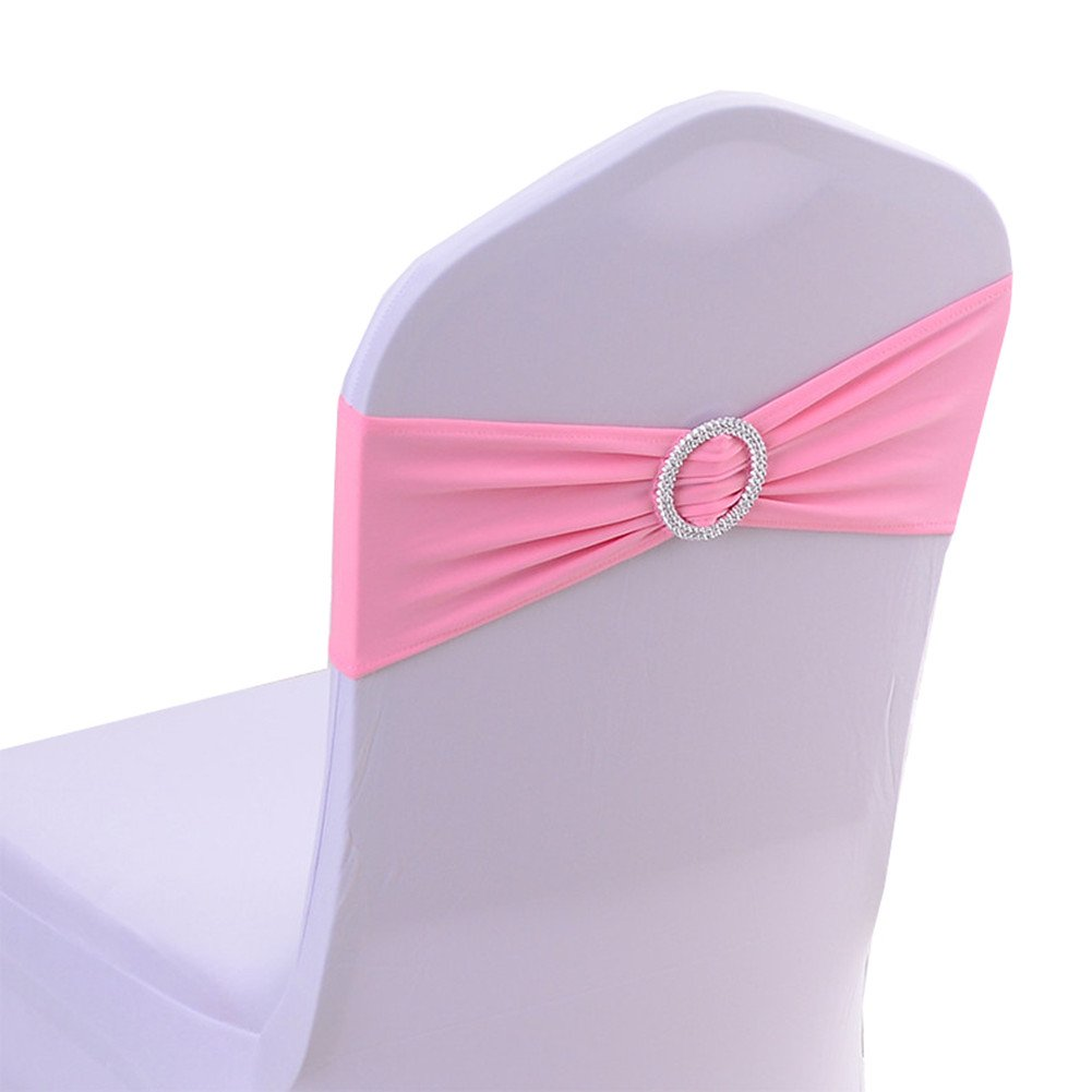 Amazon.com: Spandex Chair Cover Stretch Band With Buckle Slider ...