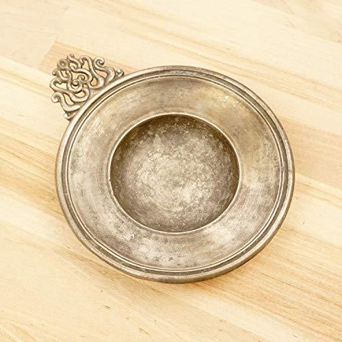 Pewter Tastevin/Vintage Wine Taster/Pewter Tray/Bowl / Dish/Ashtray || Simple Design || ()