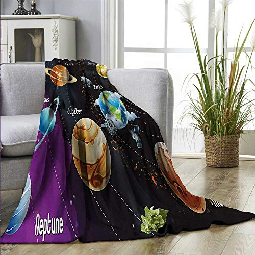 SHOPUS | homehot Outer Space Super Soft BlanketsSolar System of