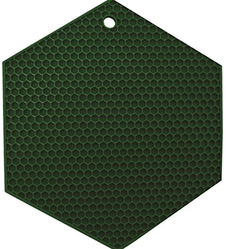 "Lamson HoneyComb HotSpot Pot Holder, 7"" x 7"", Green, Silicone"