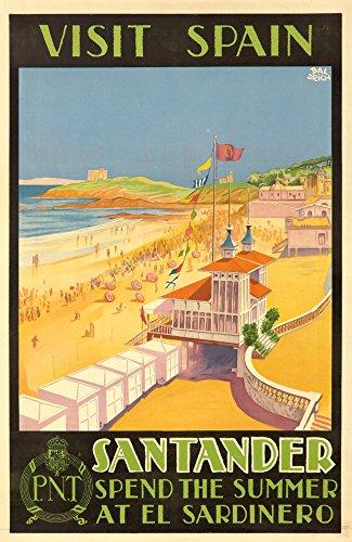 visit-spain-santander-vintage-poster-artist-baldrich-javier-c-1930-12x18-collectible-art-print-wall-