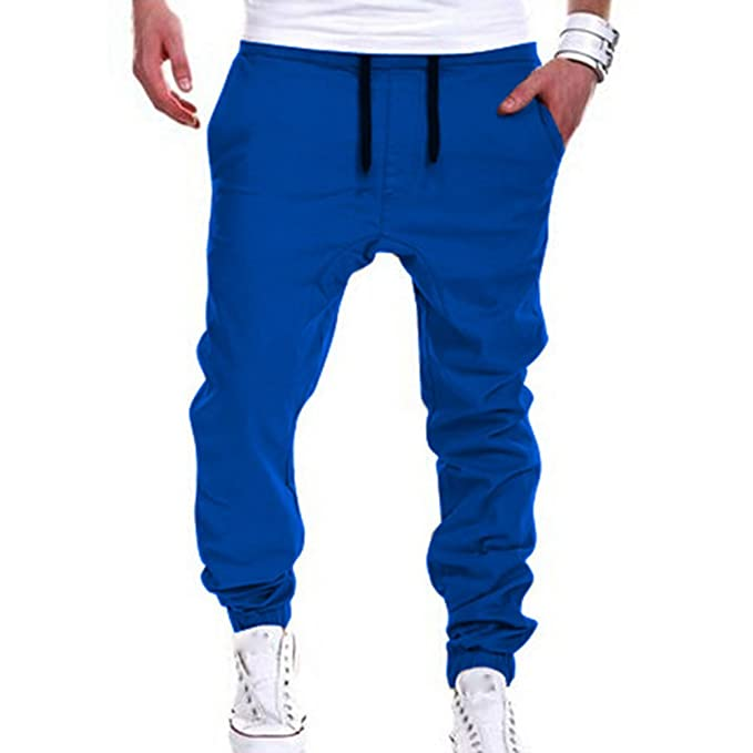 04d551b44bb Moda Pantalones para Hombre Jogging Fitness Deportivos Pantalón de Chándal  Slim Stretch Casuales Largos Jogger Pantalones  Amazon.es  Ropa y accesorios