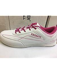 Ebonite Womens Milan White/Pink Bowling Shoes