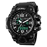 Skemi Analogue Digital Black Dial Sports Watch for Men and Boys