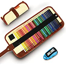 Colored Pencils, COVACURE Premier Color Pencil Set With 36 Colouring Pencils,Sharpener and Canvas Pencil Bag for Kids and Adult Coloring Book,Ideal for Christmas Gifts