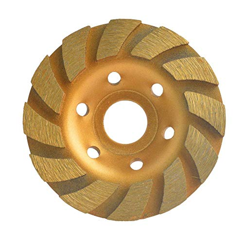 Gunpla 4 inch Concrete Turbo Diamond Grinding Disc Wheel 12 Segs Cup Masonry Granite Stone Cutting Heavy Duty Tool for Angle Grinder 105mm x 22.2mm ()