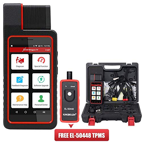 LAUNCH X431 DIAGUN IV Bi-Directional Full System Scan Tool,EL-50448 TPMS as Gift, Free Update-5 Years Warranty