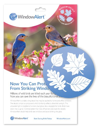 Window Alert Leaf Medley Decal, 5-Pack - Alert Decals