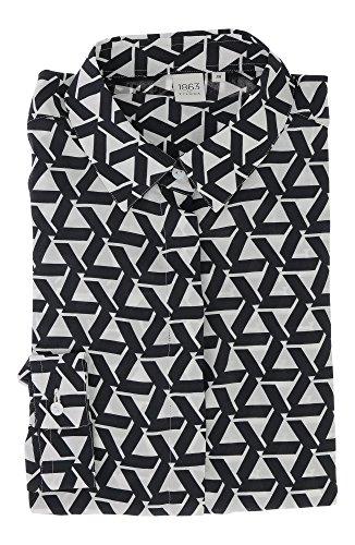 ETERNA long sleeve Blouse MODERN FIT printed negro/blanco