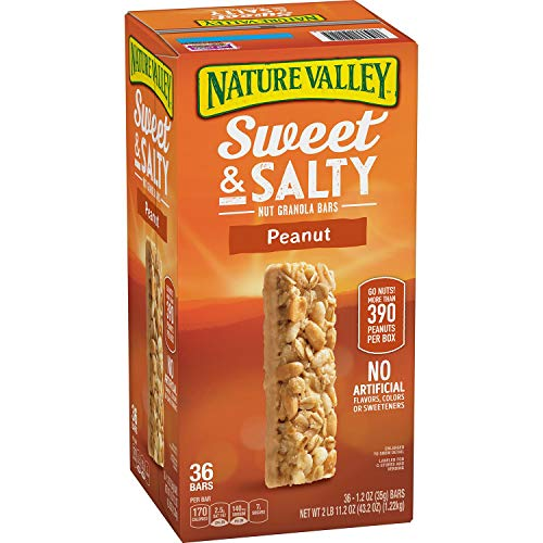 Nature's Valley Sweet and Salty Granola Bars Peanut dipped in Peanut Butter Coating, 36 Count, Pack of 1 ()