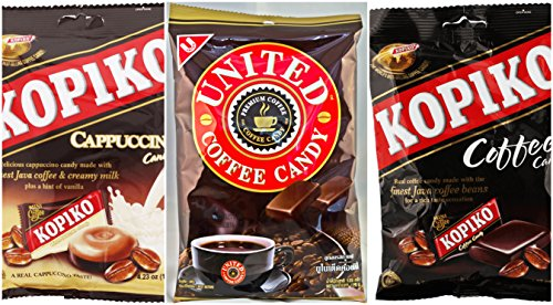 Kopiko United Candy 3 Pack Cappuccino Coffee Thailand Indonesia