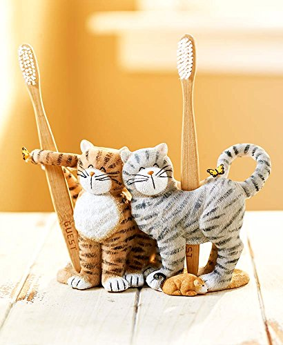 Cat Toothbrush Holder - The Lakeside Collection Playful Cat Toothbrush Holder