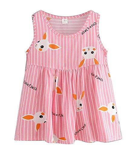 Estampado Precioso Para Verano 2 conejo De Niñas Vestido 1wYP88Oq