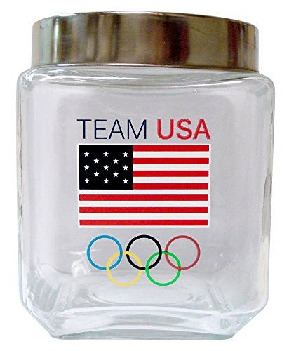 USOC Team Usa  Glass Canister, Medium ()