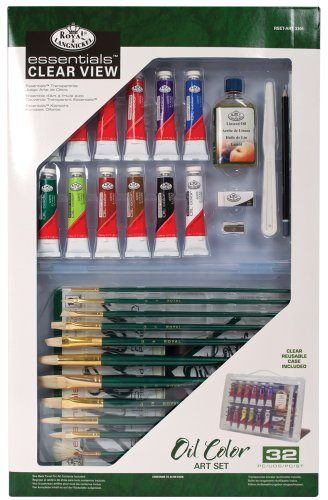Royal & Langnickel RSET-ART3301 Essentials Clear View Oil Painting Set, Deluxe