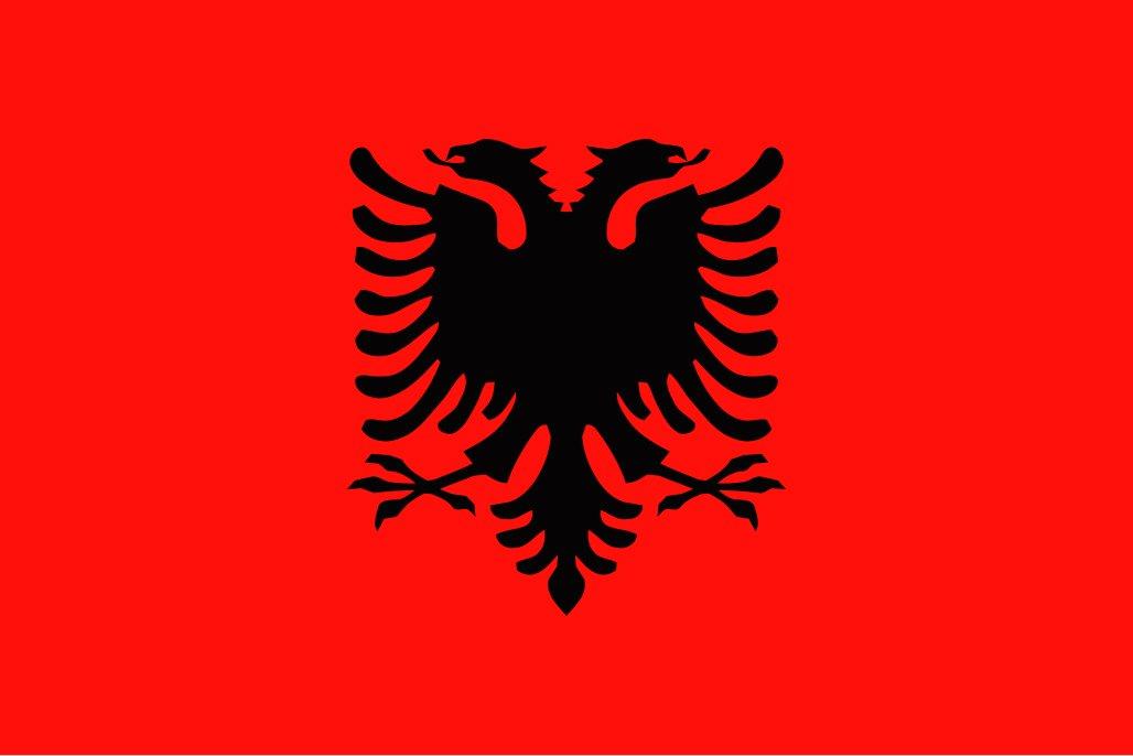 太田旗店 アルバニア 国旗 地球にやさしい外国旗 (140×210cm) 140×210cm  B07BRYXJR4
