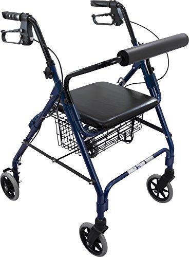 Roscoe Medical ROS-RL10040A-BL Wheel Rollator/Rolling Wal...
