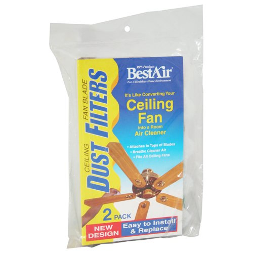 Bestair cf2 ceiling fan dust filter amazon kitchen home mozeypictures Choice Image