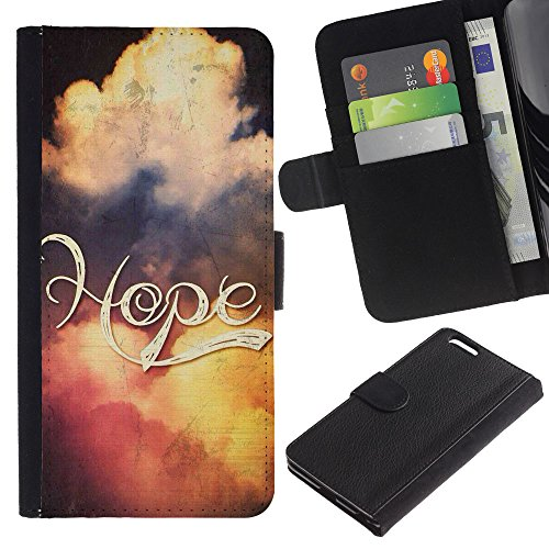 EuroCase - Apple Iphone 6 PLUS 5.5 - HOPE - Cuir PU Coverture Shell Armure Coque Coq Cas Etui Housse Case Cover