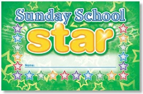 North Star Teacher Resources NS2454 Sunday School Star Punch Cards