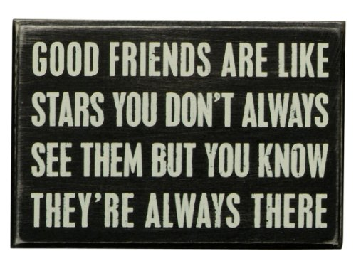 Primitives by Kathy Box Sign, Good Friends, Wood, 6