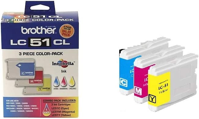 Brother LC-51 Color Ink Cartridge Multipack, Brother LC513PKS