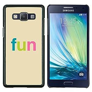 """Be-Star Único Patrón Plástico Duro Fundas Cover Cubre Hard Case Cover Para Samsung Galaxy A5 / SM-A500 ( Diversión - Tipografía colorida"""" )"""