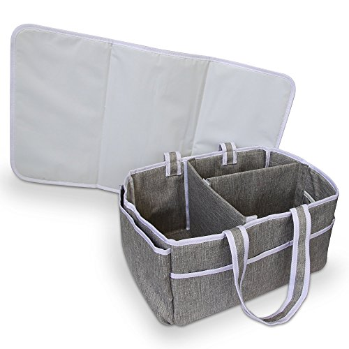 Bellizzi Diaper Caddy and Changing Mat for a Easy, Stress-free Baby Nappy Change - Portable Organizer for Your Changing Table and Nursery by Bellizzi