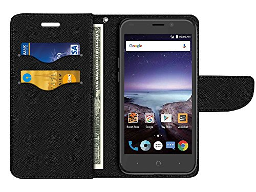 FINCIBO Prestige 2 N9136 Case, Fashionable Flap Wallet Pouch Cover Case + Credit Card Holder with Kickstand For ZTE Prestige 2 N9136 2017 - Purple Marvel Nebula Galaxy by Fincibo (Image #3)