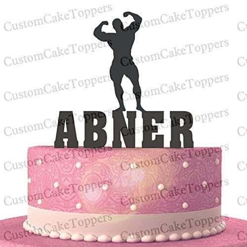 e29d62da2111a Amazon.com: Body Builder Cake Toppers Custom Personalized with Your ...