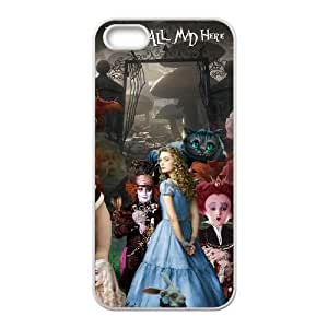 iPhone 5 5s Cell Phone Case Covers White Alice in Wonderland FTA