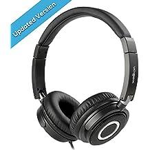 vogek de diadema ligera y plegable Bass auriculares con control de volumen y micrófono