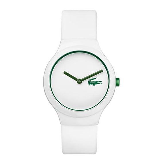 Lacoste – 2020103 – Goa – Unisex – Reloj analógico cuarzo esfera de color blanco –