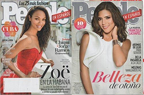 People En Espanol 2016 September - Cover: Zeo Saldana (12 more pages inside magazine + Back Cavoer Francisca Lachapel