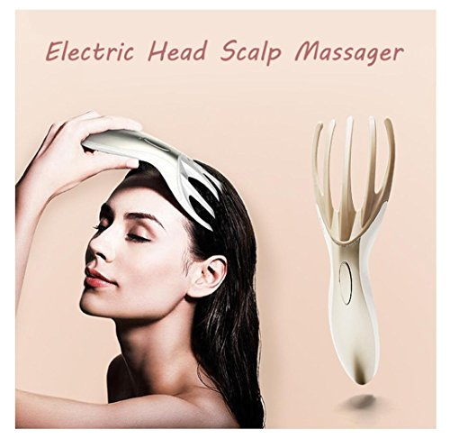 Multifunctional Head Massager,Rambling Electric Massager Scalp Head Full Body SPA Vibrating Massage Brush Comb Tool