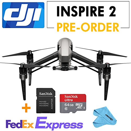 DJI-INSPIRE-2-Drone-Quadcopter2-axis-FPV-camera67mph108kph-max-speed-64G-SD-Card
