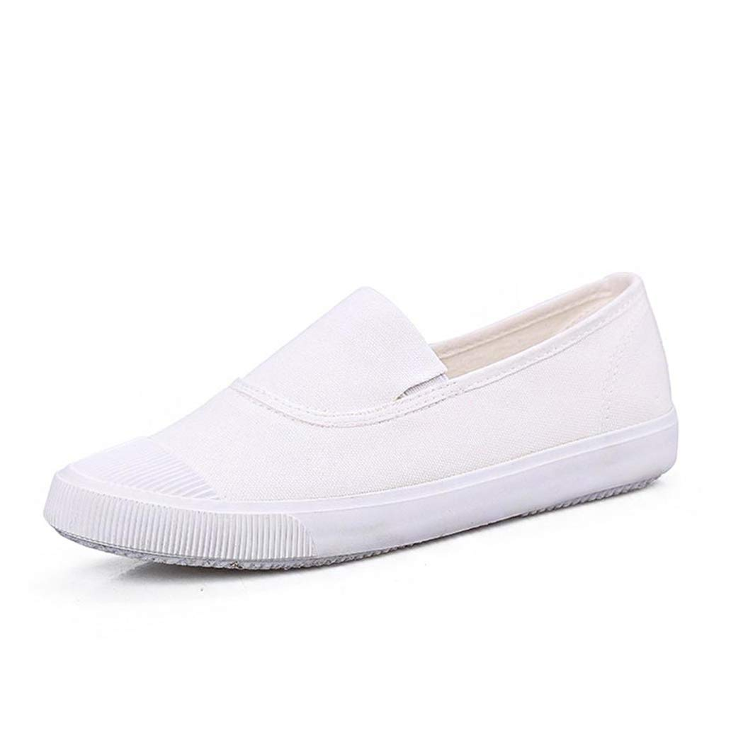 York Zhu Summer Oxford Shoes Canvas Student Flat Comfortable White Shoes