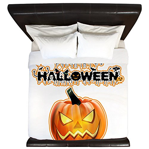 King Duvet Cover Happy Halloween -