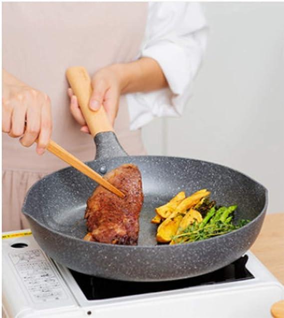 R&Y Juego de cazos antiadherentes, 30cm Wok + 30cm Sartén + 22cm Stockpot - Horno Compatible-3 Piezas: Amazon.es: Hogar