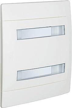 Bticino centralino caja de empotrar en resina termoplástica con Portello blanco ral9003 para interruptores, blanco: Amazon.es: Bricolaje y herramientas