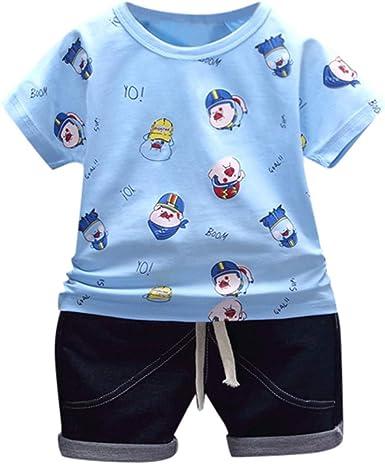 2tlg Kleinkind Kinder Mädchen Sommer Kurzarm T-shirt Tops Lange Hosen Outfit Set