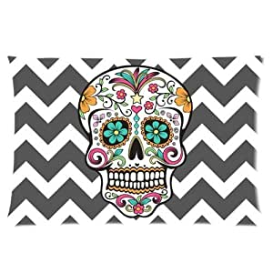 Chevron Sugar Skull One Side Rectangle Pillowcase Pillow Cover 16x24 Inches