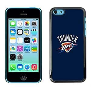 OKC Baloncesto - Metal de aluminio y de plástico duro Caja del teléfono - Negro - iPhone 5C