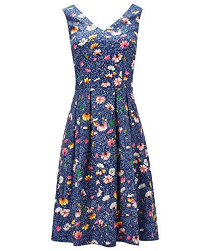 Sur L'ensemble Robe À Femme Plissée Floral Imprimé Browns Bleu Joe x10qZwg0