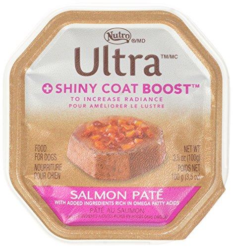 Nutro ULTRA Shiny Coat Boost Adult Wet Dog Food, Salmon Pate
