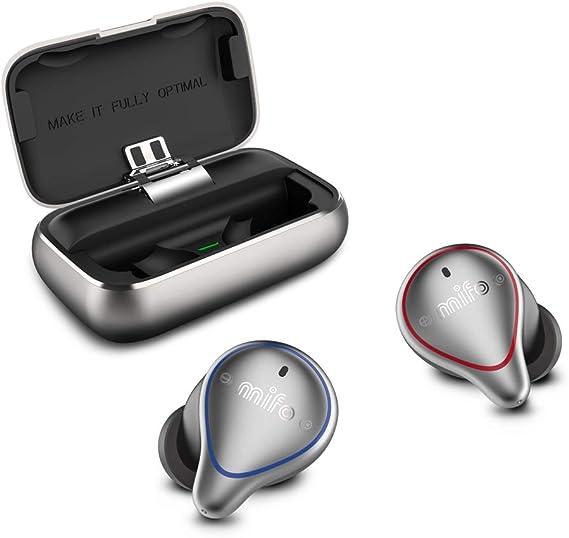 MIFO O5 True Wireless Earbuds Bluetooth 5.0 Sport Earbuds with 2600mAH Charging Case IP67 Hi-Fi TWS Stereo Wireless in Ear Earphones Waterproof Wireless Headphones for Running