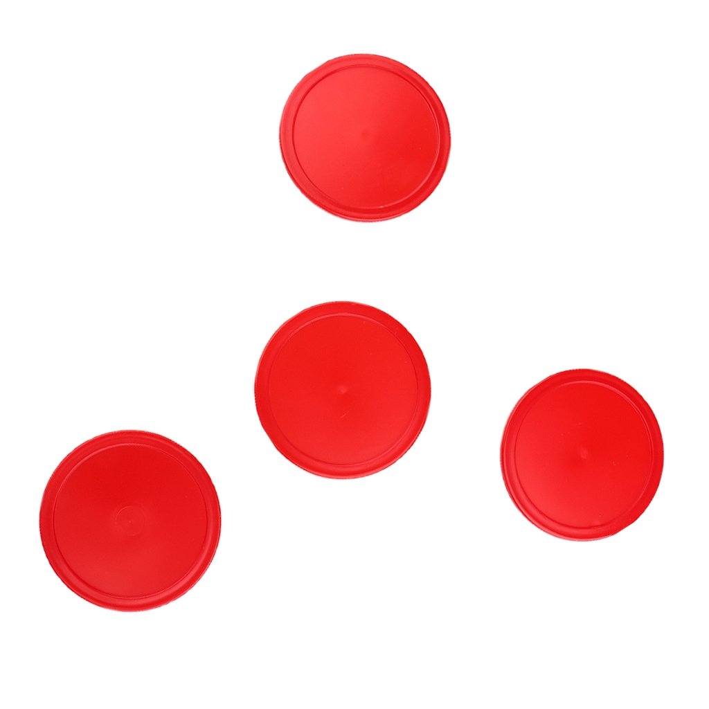 Fenteer Pack of 4 Pieces Red Air Hockey Pucks Replacement Accessories Three Sizes to Choose