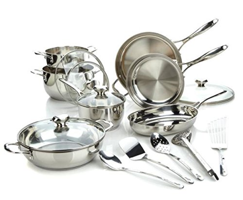 WP Bistro Elite 17-piece Stainless Steel Cookware Set for sale  Delivered anywhere in USA