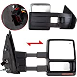 Autodayplus For Ford Towing Mirrors SCITOO Exterior Accessories Mirrors for 2007-2014 Ford F150 Truck with Power Controlling Heated Amber Turn Signal Manual Telescoping and Folding (Chrome)