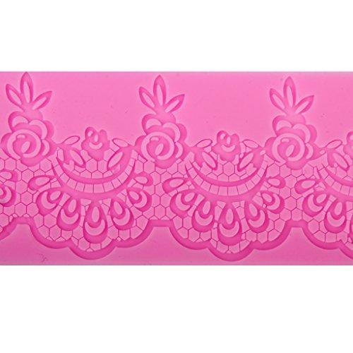 Sugarcraft Cake Decoration tool Rose Scalloped lace drop Border Icing fondant Silicone Mold Mould Lace Shaped Cupcake Mat 1870.3cm